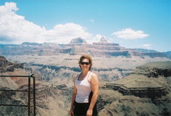 Standing at Plateau Point, overlooking the Colorado River